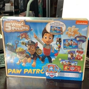 Paw Patrol 5 Wooden Puzzles NEW 🐾